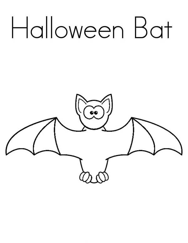 Halloween Bats Coloring Page: Halloween Bats Coloring Page