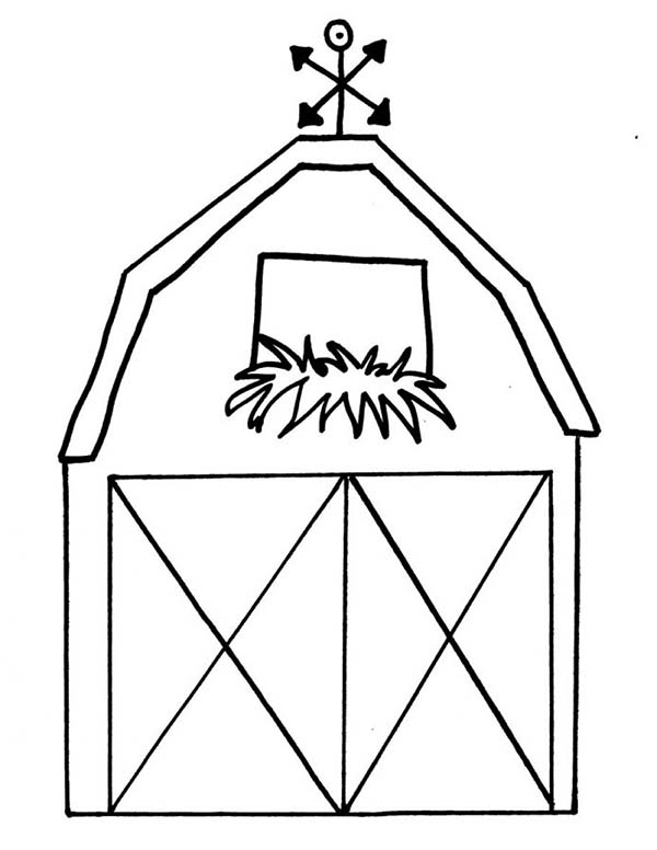 how to draw a barn coloring page how to draw a barn