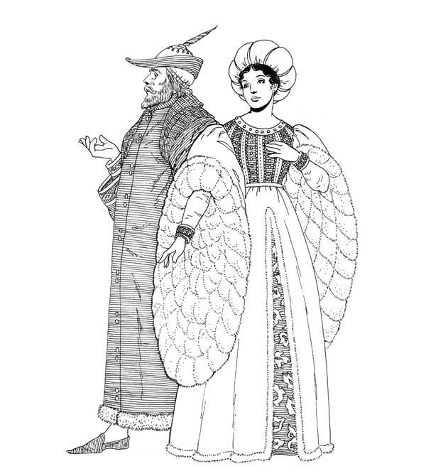Free coloring pages of medieval clothing