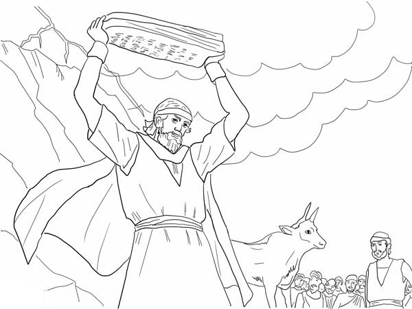 moses and the law Colouring Pages