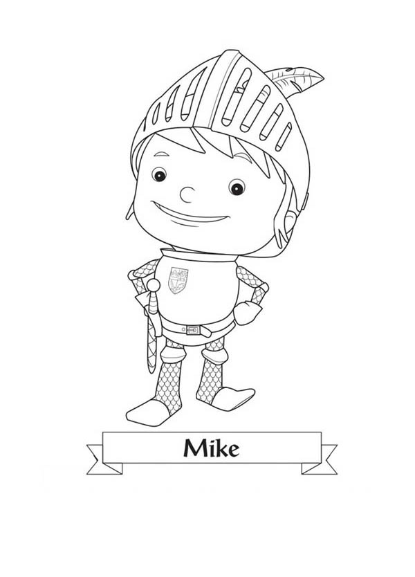 Picture of Mike the Knight Coloring Page: Picture of Mike