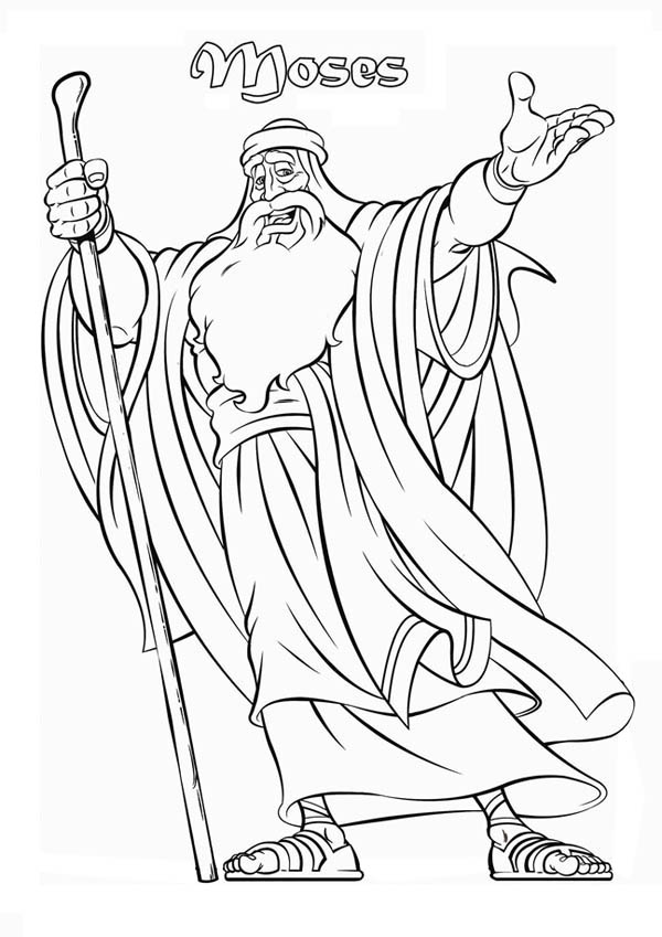 Picture of Prophet Moses Coloring Page: Picture of Prophet