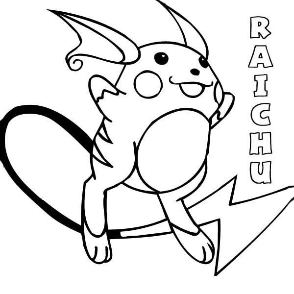 Pokemon Raichu Coloring Page : Color Luna