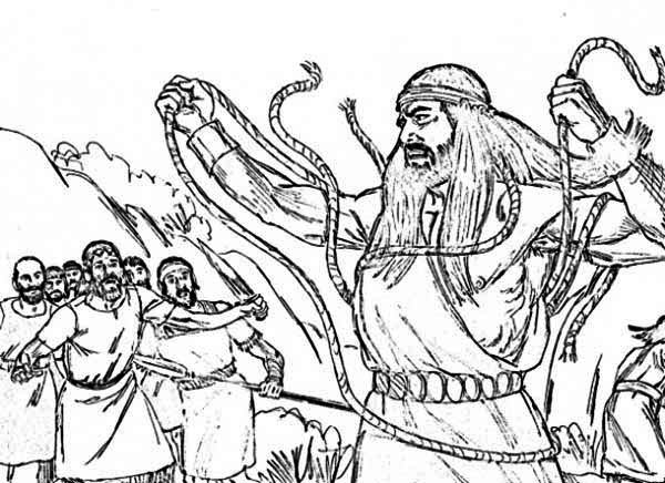Free samson and the lion coloring pages