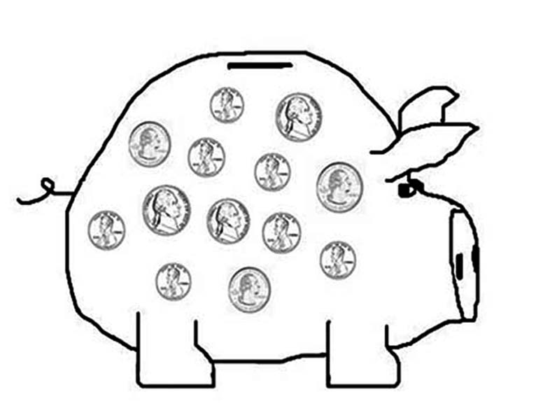 indian currency Colouring Pages