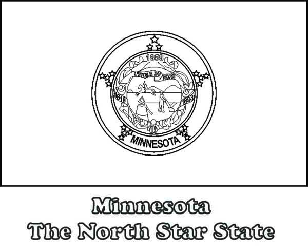 State Flag Of Minnesota Coloring Page : Color Luna