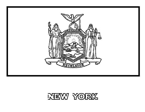 State Flag Of New York Coloring Page : Color Luna