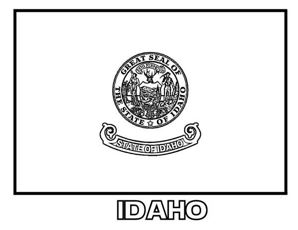 idaho-state-flag-coloring-page-32133: idaho-state-flag