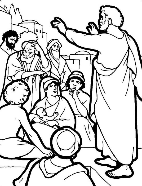 Celebrating Shavuot in Pentecost Coloring Page
