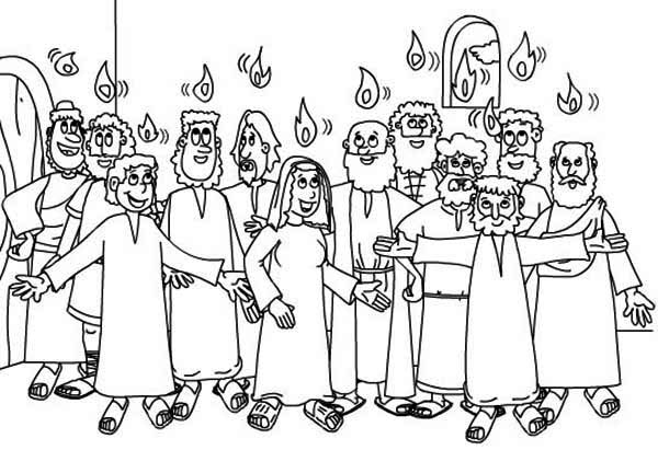 White Sunday in Pentecost Coloring Page: White Sunday in