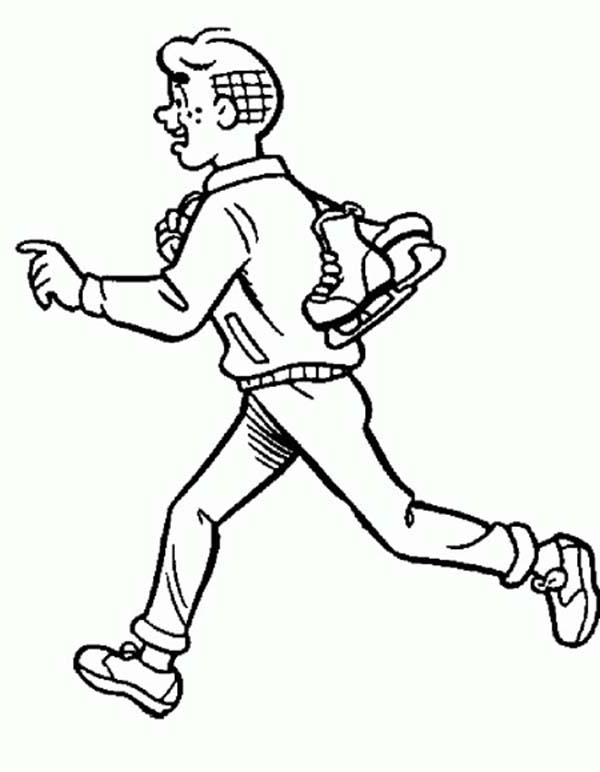 Track Shoes With Wings Drawing Sketch Coloring Page