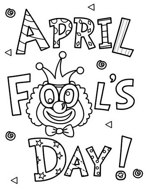 Happy April Fools Day Coloring Page : Color Luna