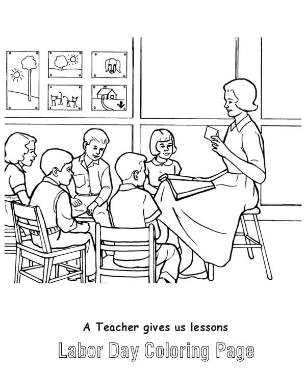 A Teacher Gives Us Lessons in Labor Day Coloring Page