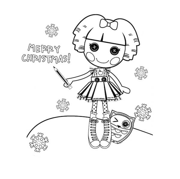 Bea Spells a Lot Merry Christmas Lalaloopsy Coloring Page