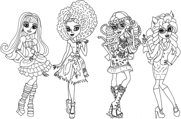 Beautiful Outfit In Monster High Coloring Page : Color Luna