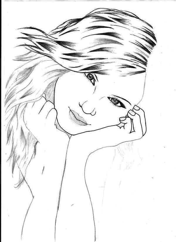 Beautiful Picture of Taylor Swift Coloring Page: Beautiful