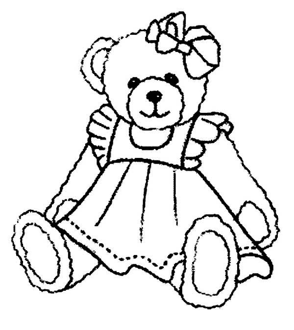 Beautiful Teddy Bear Coloring Page : Color Luna