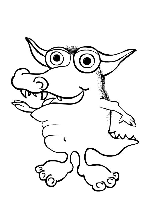 Crocodile Monster Coloring Page: Crocodile Monster