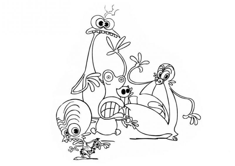 Monsters Vs. Aliens Coloring Pages Truck Coloring Pages
