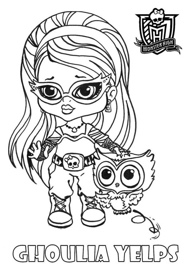 Ghoulia Yelps from Monster High Coloring Page: Ghoulia
