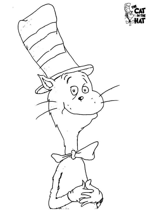How to Draw Dr Seuss the Cat in the Hat Coloring Page: How