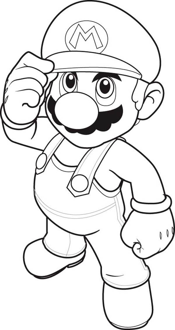 how to draw super mario brothers coloring page  color luna