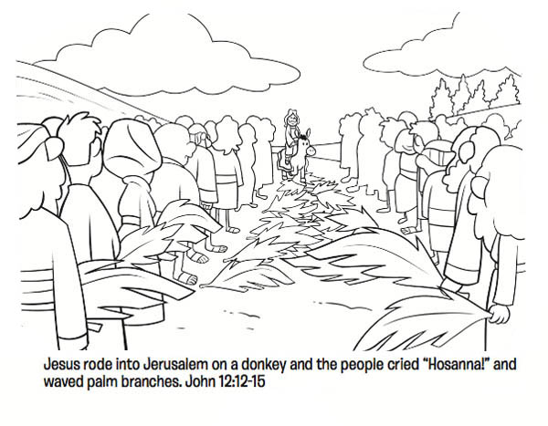 Free coloring pages of jesus on a donkey