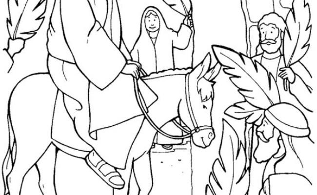 jesus triumphal entry coloring pages - photo #45