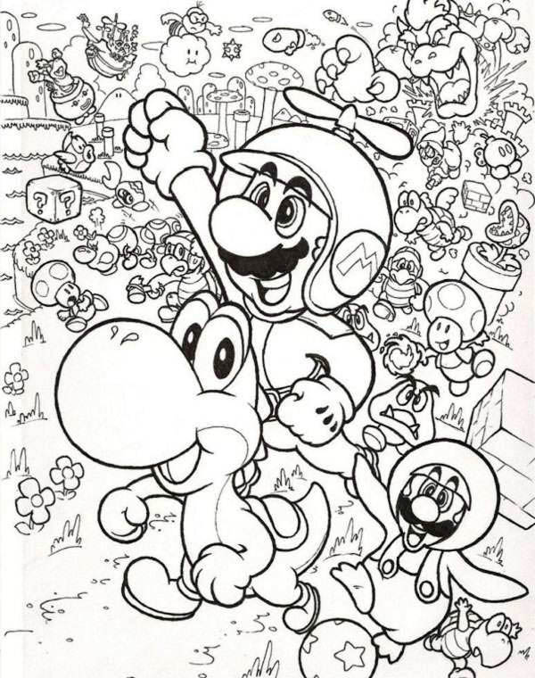 Mario and Luigi Fly with Little Dragon in Mario Brothers
