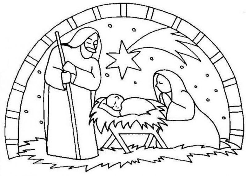 """Search Results for """"Nativity Star Coloring Page"""