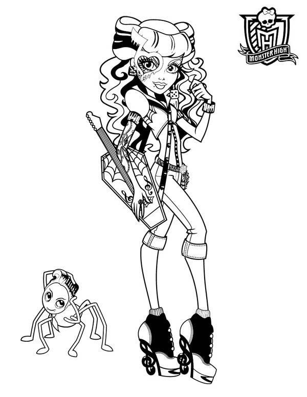 operetta monster high Colouring Pages