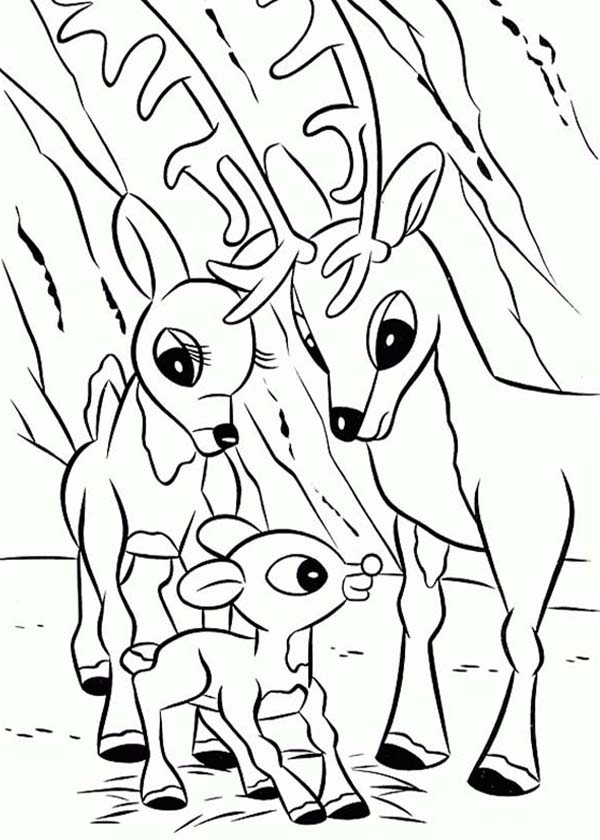 Rudolph Red-Nosed Reindeer Coloring Pages
