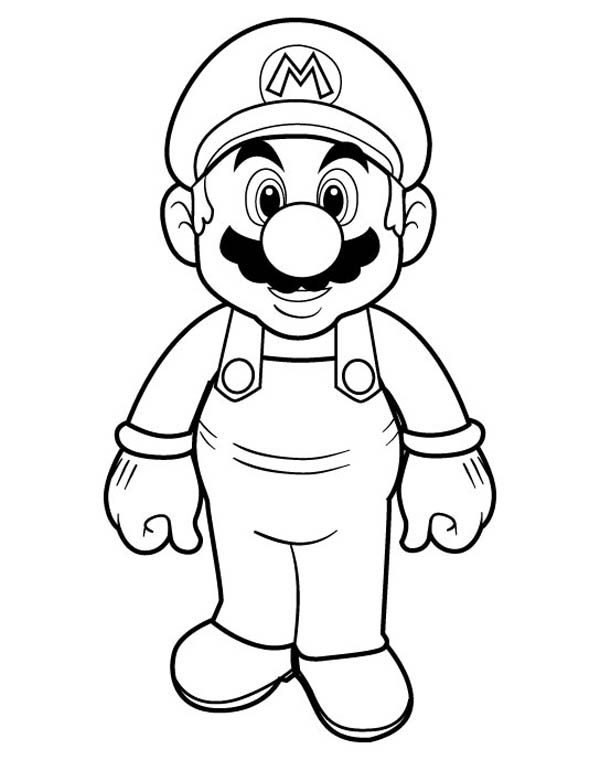 Free coloring pages of super mario leaf
