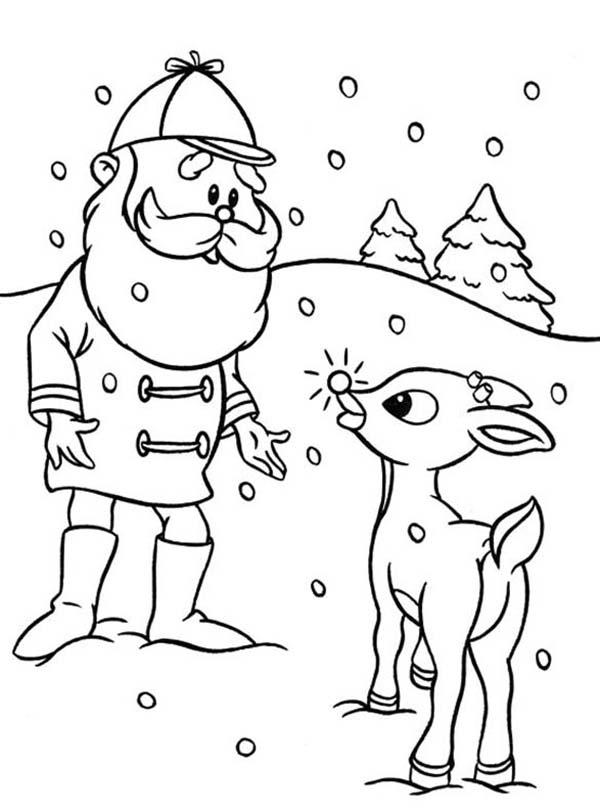 Santa Ask Rudolph the Red Nosed to Lead Other Reindeer