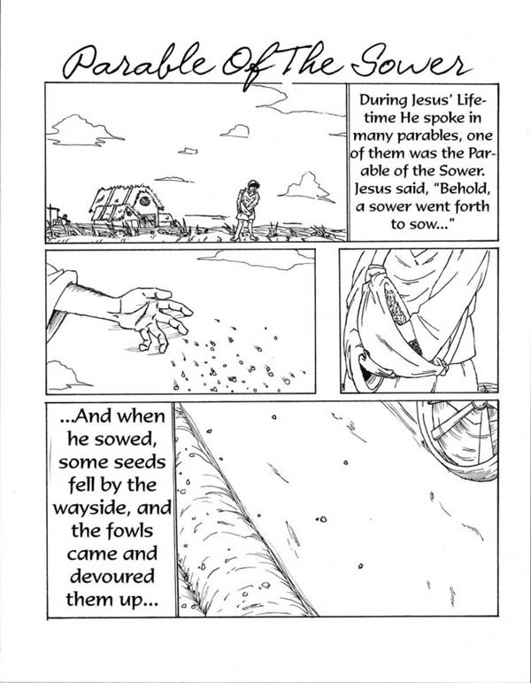 Pin Coloring Parable Sower And The Seed Korner Biblewise