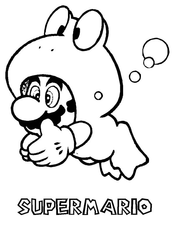 Kleurplaten Mario En Peach.20 Coloring Pages Super Mario Cat Suit Ideas And Designs