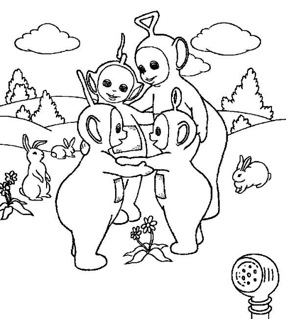 Teletubbies Tinky Winky Coloring Book Coloring Pages