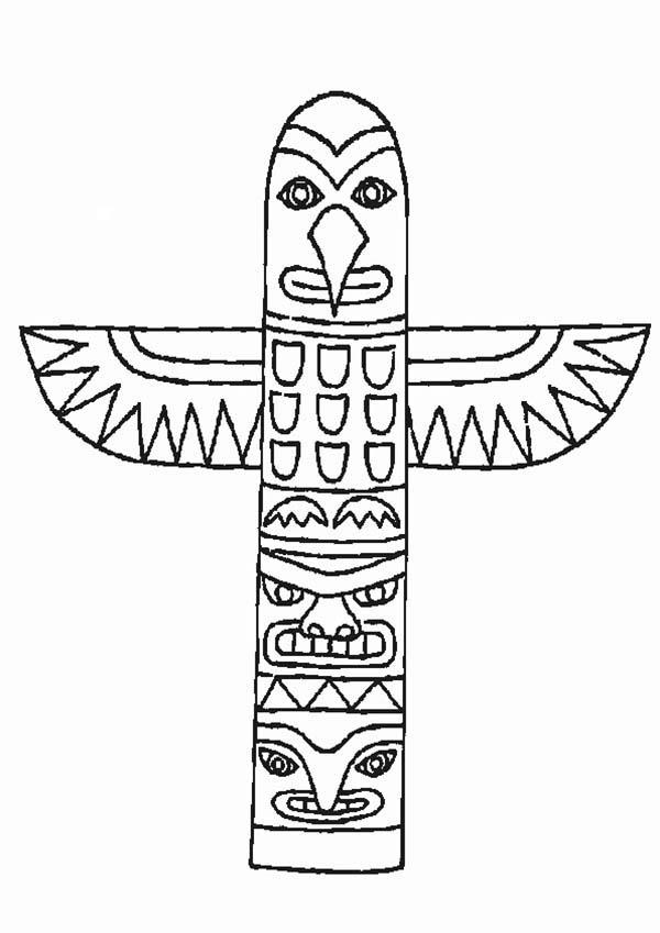 Native American Totem From Thuja Plicata On Native
