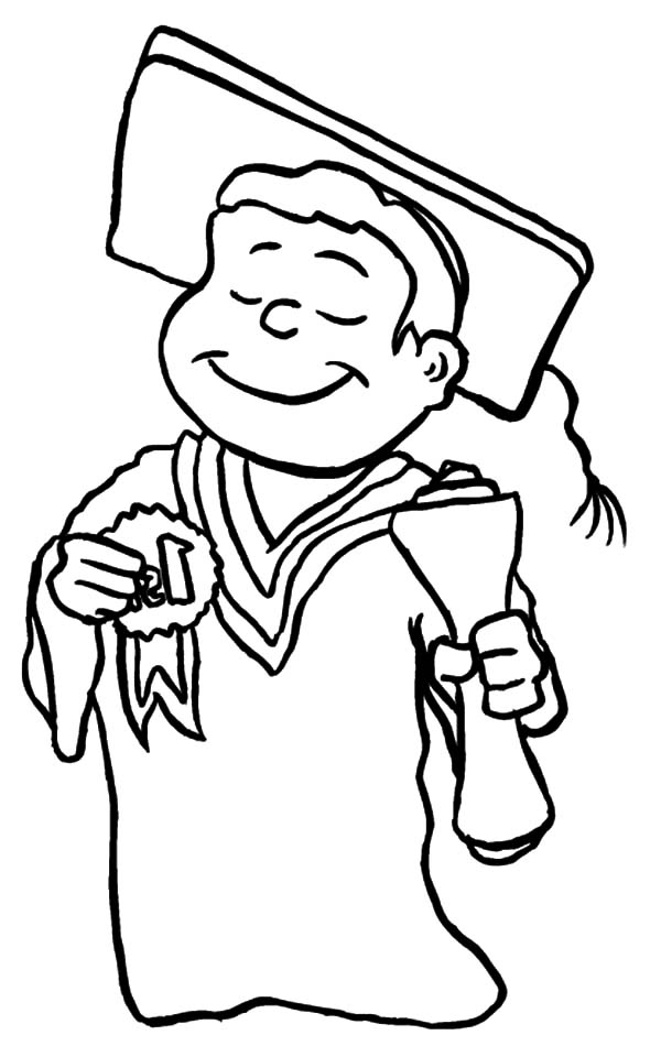 Graduation Medals Class 2016 Related Coloring Pages Cap