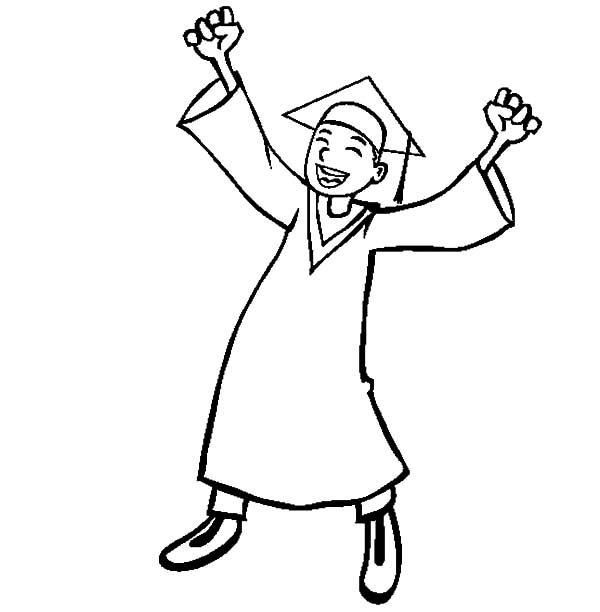 Drawing Graduation Cap Coloring Pages: Drawing Graduation