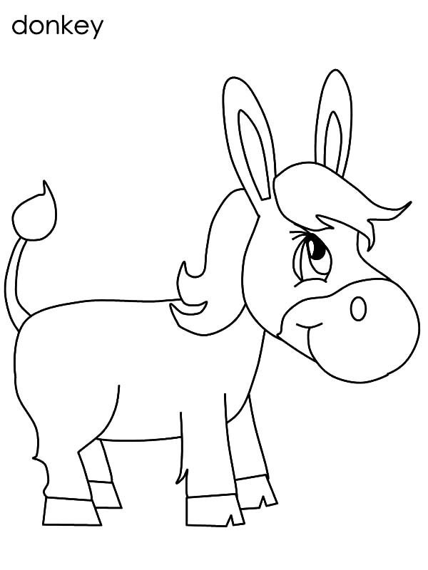 Chibi Mexican Donkey Coloring Pages