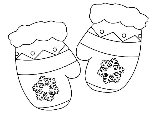 Mittens : My Mittens Coloring Pages, My Brother Mittens