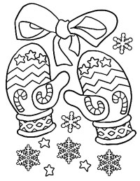Mittens Keep Your Hand Warm Coloring Pages | Color Luna