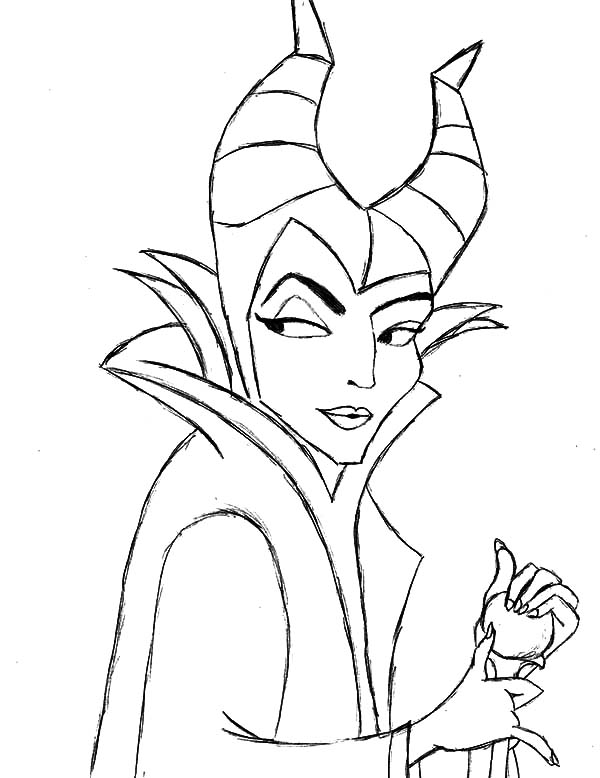 Maleficent Setting for Scheming Coloring Pages: Maleficent