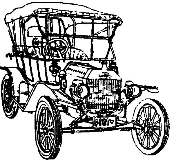 List of Synonyms and Antonyms of the Word: model t car drawing