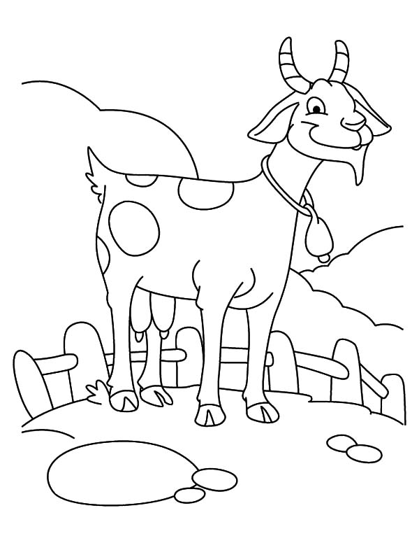Coloring Pages Goat Coloring Page Goat Goat Colouring Page