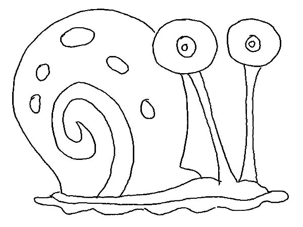 Gary The Snail Outline Coloring Pages : Color Luna