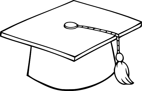 Dog Bite Diploma and Wear Graduation Cap Coloring Pages