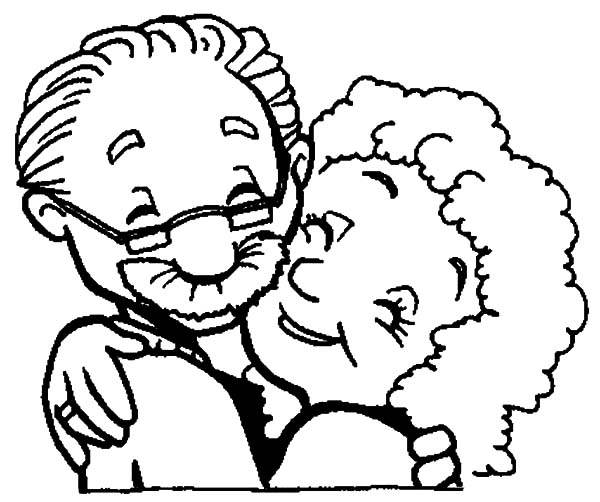 Free coloring pages of grandmother