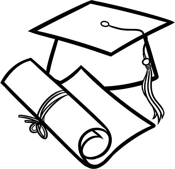 Free coloring pages of cap and gown